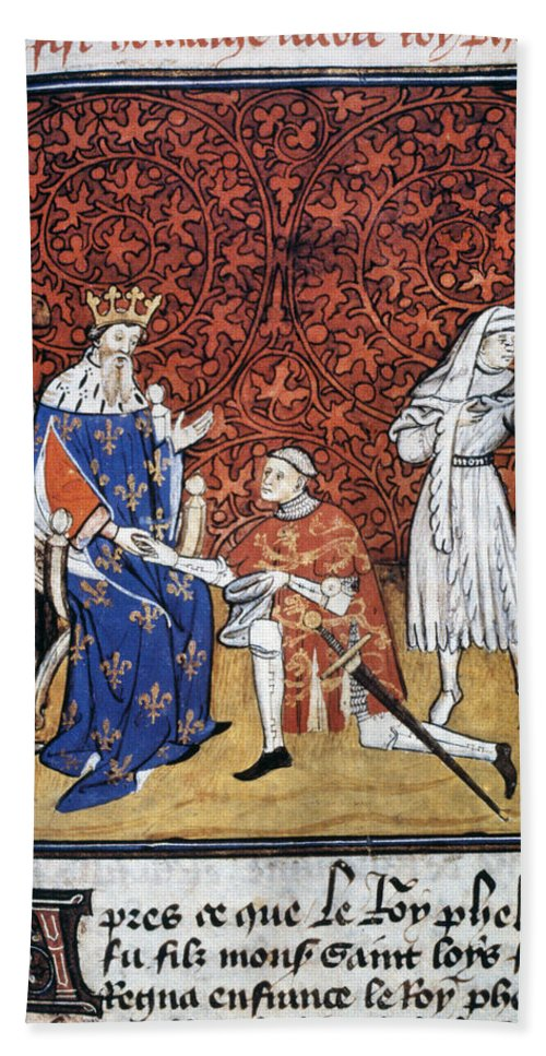1304 Bath Sheet featuring the photograph King Philip Iv Of France by Granger