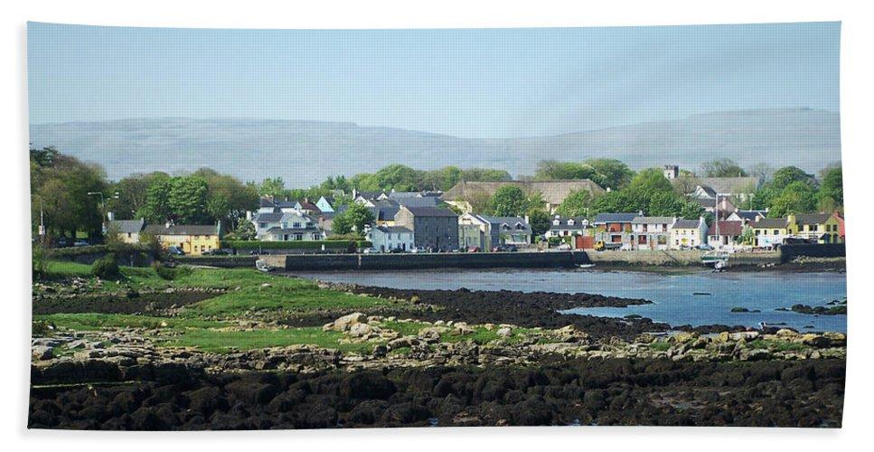 Irish Hand Towel featuring the photograph Kinvara Seaside Village Galway Ireland by Teresa Mucha