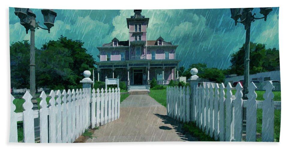Kirby House Restaurant Bath Sheet featuring the painting Kirby House Restaurant by L Wright