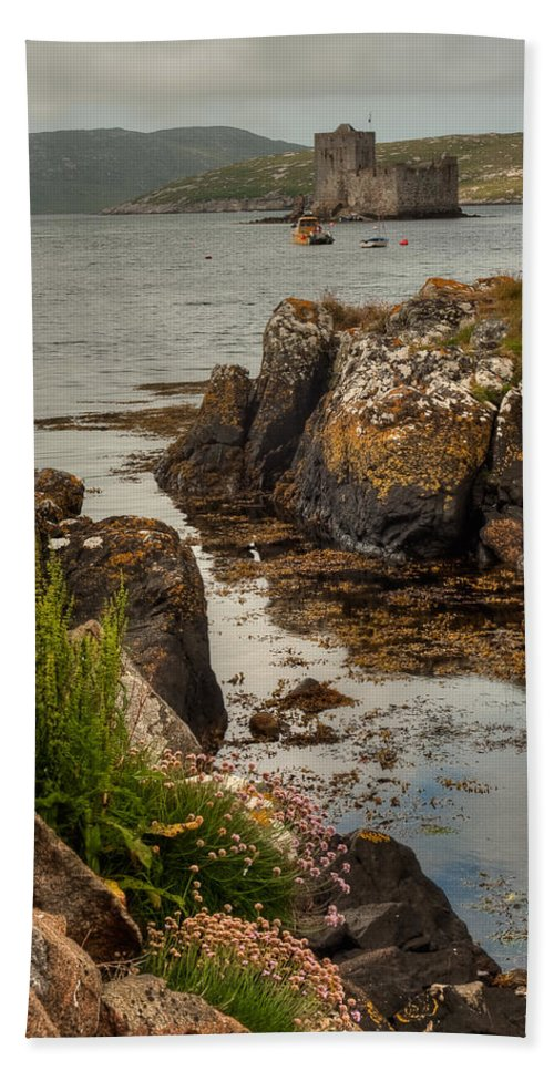 Scotland Bath Sheet featuring the photograph Kisimul Castle by Colette Panaioti