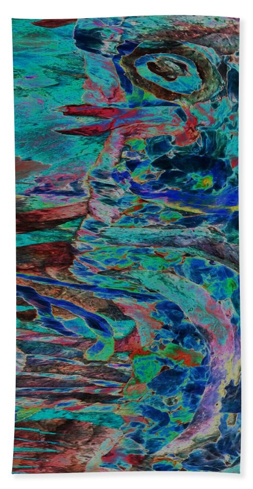 Eye Bath Towel featuring the mixed media Kiss Me Baby by Sue Duda