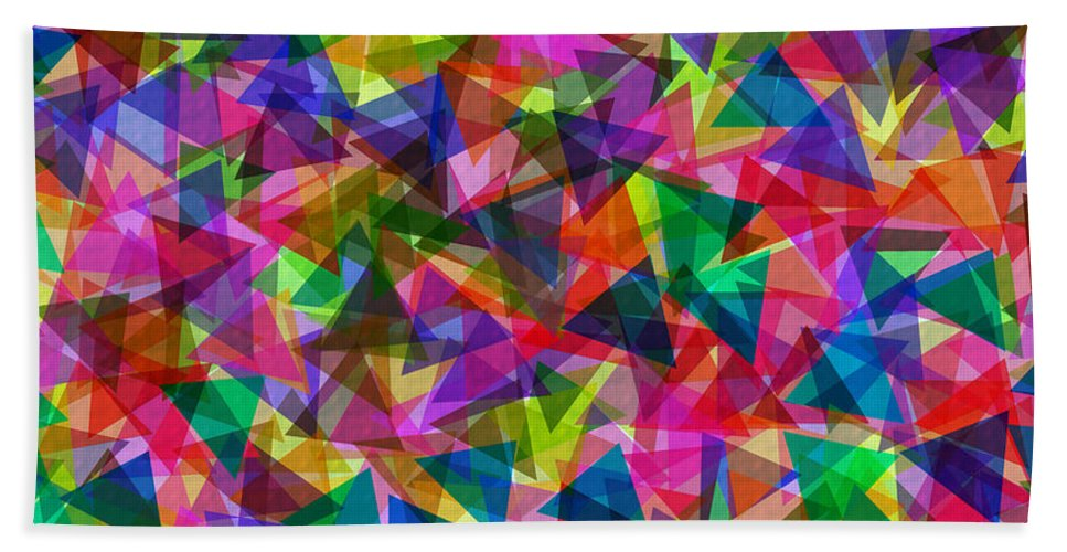 Geometric Hand Towel featuring the digital art Kite Festival by Lyriel Lyra