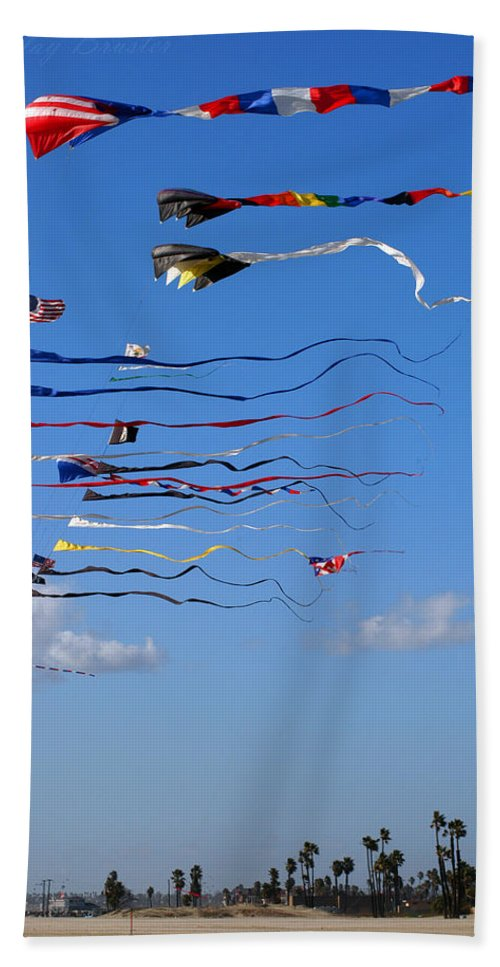 Clay Bath Sheet featuring the photograph Kite Season by Clayton Bruster