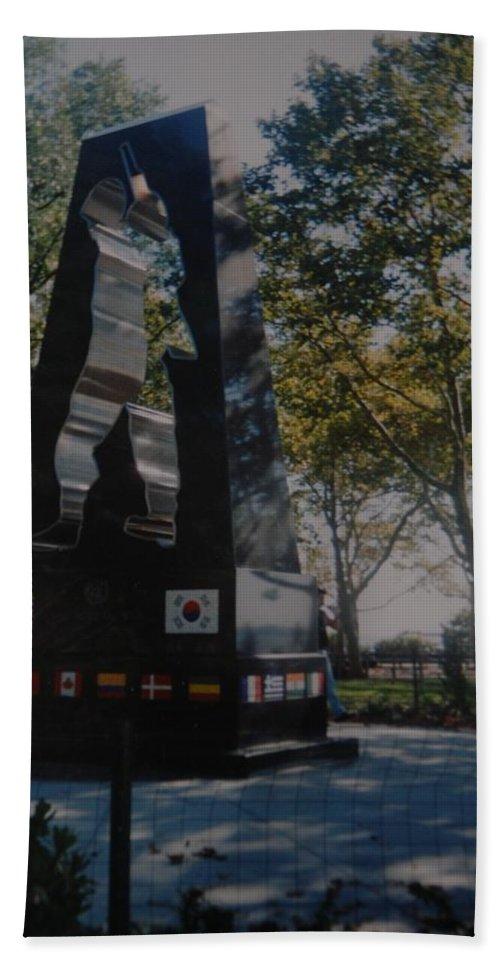 Korea Bath Sheet featuring the photograph Korean War Memorial by Rob Hans