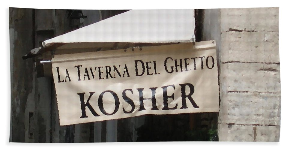 Kosher Hand Towel featuring the photograph Kosher by Rhonda Chase