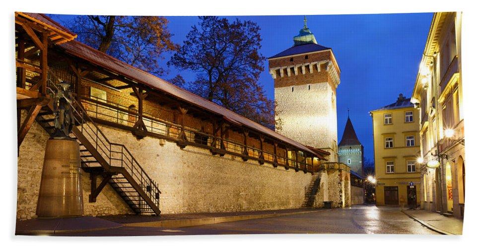 Poland Bath Sheet featuring the photograph krakow 'XIV by Milan Gonda