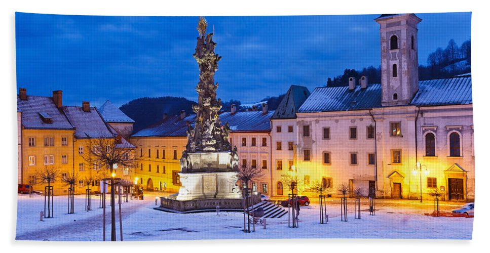 Slovakia Hand Towel featuring the photograph kremnica 'XIX by Milan Gonda