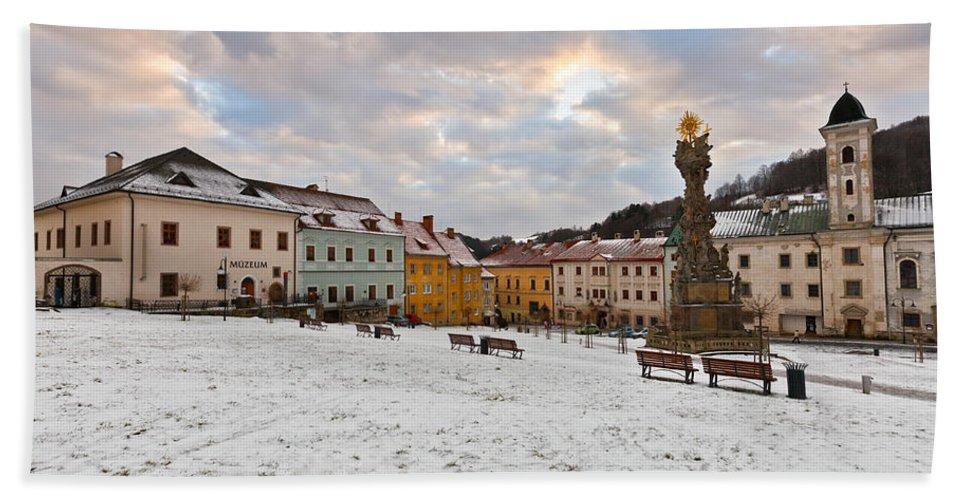 Slovakia Hand Towel featuring the photograph kremnica 'XV by Milan Gonda