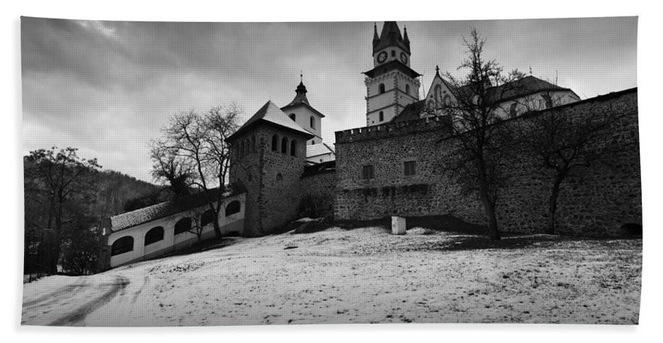 Slovakia Hand Towel featuring the photograph kremnica 'XVIII by Milan Gonda