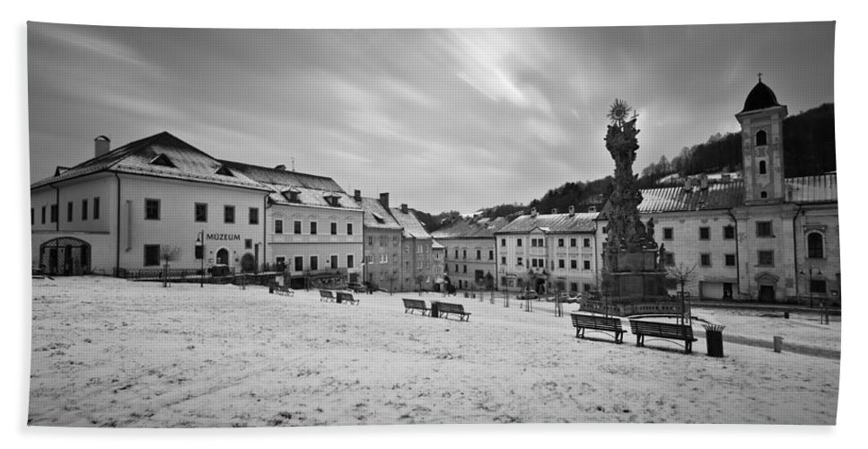Slovakia Hand Towel featuring the photograph kremnica 'XX by Milan Gonda