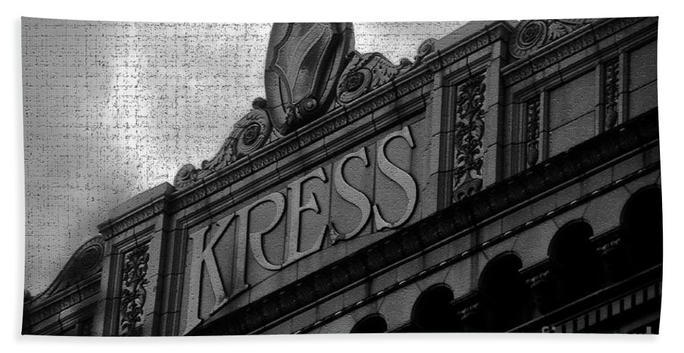 S. H. Kress Bath Sheet featuring the photograph Kress 1929 by David Lee Thompson