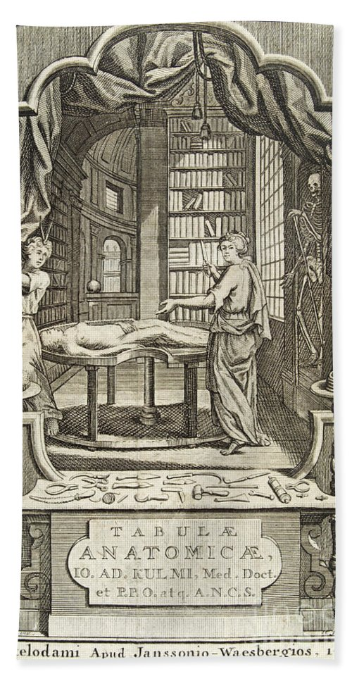 Historic Hand Towel featuring the photograph Kulmus About Perform Autopsy, 18th by Wellcome Images