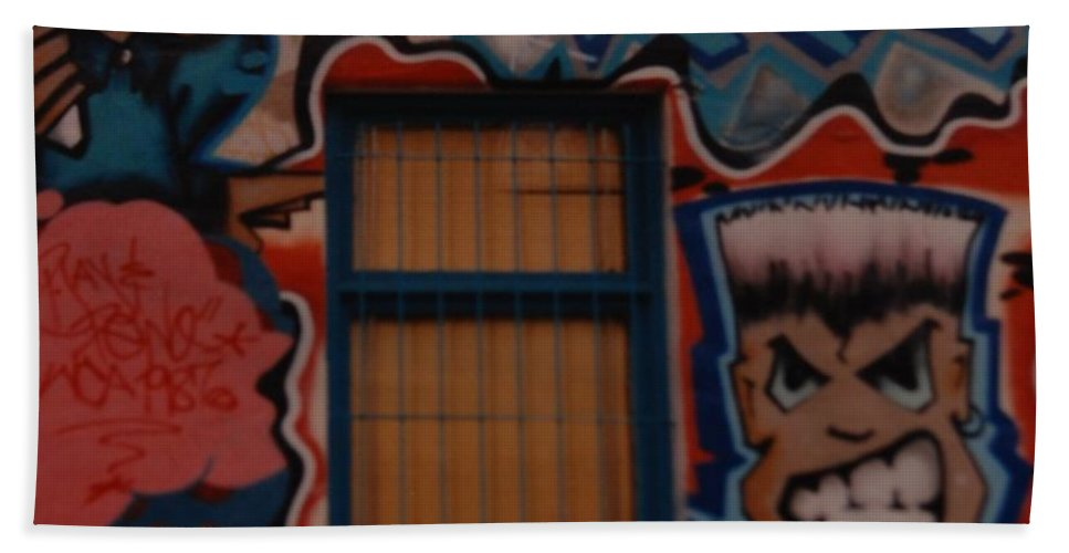 Urban Hand Towel featuring the photograph L A Urban Art by Rob Hans