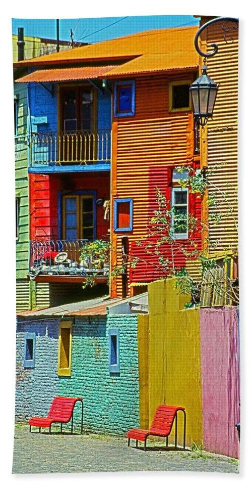 South America Bath Towel featuring the photograph La Boca - Buenos Aires by Juergen Weiss