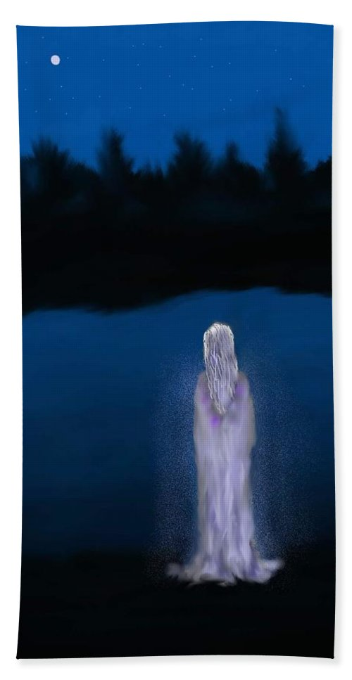 Lanscapes Bath Towel featuring the painting La Llorona by Abel Padilla