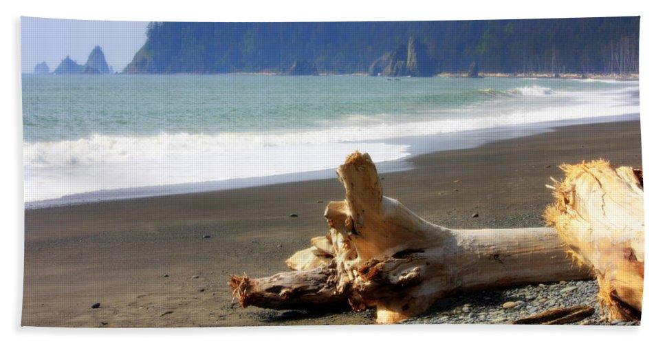 Washington State Bath Sheet featuring the photograph La Push Beach by Carol Groenen