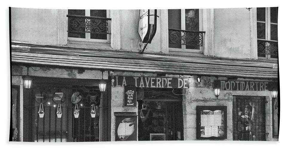 Frank Dimarco Hand Towel featuring the photograph La Taverne De Montmartre, Paris by Frank DiMarco