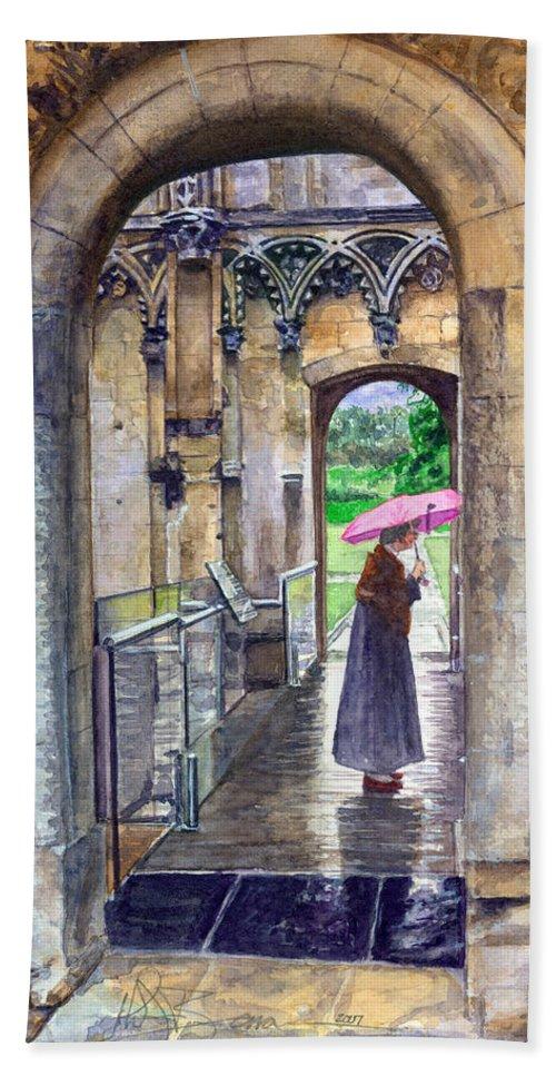 Glastonbury Bath Sheet featuring the painting Lady Chapel by John D Benson