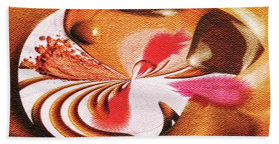 Paula Ayers Bath Sheet featuring the digital art Lady Godiva by Paula Ayers