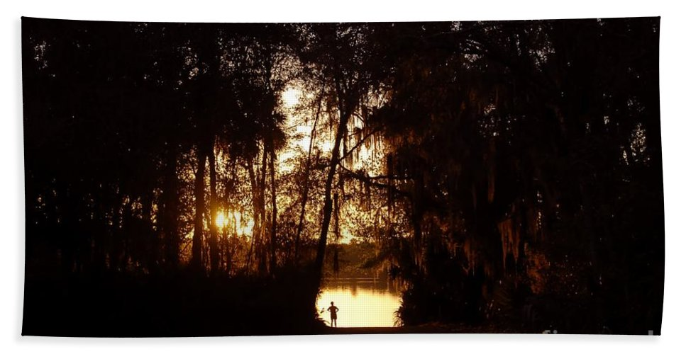 Lake Hand Towel featuring the photograph Lady Of The Lake by David Lee Thompson