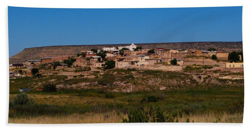 Laguna Pueblo Hand Towel featuring the photograph Laguna Pueblo by Tikvah's Hope