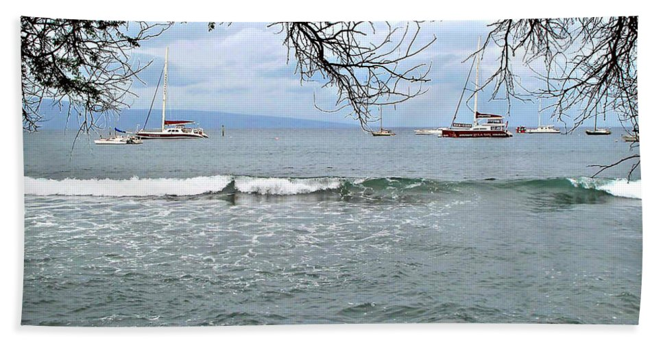 Lahaina Hand Towel featuring the photograph Lahaina Beach by Joan Minchak