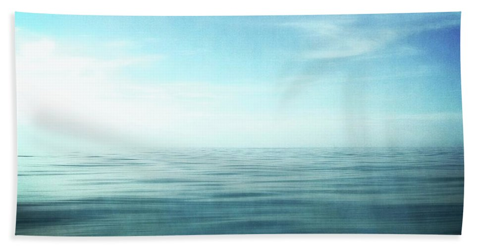 Blue Sky Bath Sheet featuring the photograph Lake And Sky by Michelle Calkins