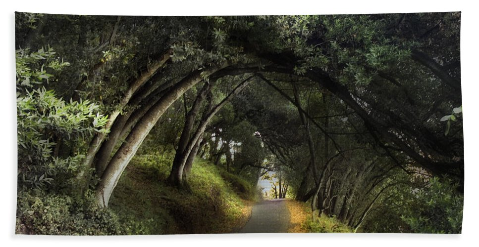 Landscapes Bath Towel featuring the photograph Lake Chabot by Karen W Meyer