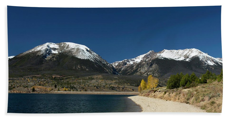 Lake Dillon Colorado Hand Towel featuring the photograph Lake Dillon Colorado by Jemmy Archer