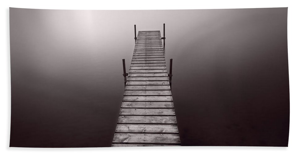 Abstract Bath Sheet featuring the photograph Lake Dock In Michigan by Steve Gadomski