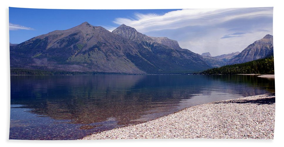Glacier National Park Hand Towel featuring the photograph Lake Mcdonald Reflection Glacier National Park 4 by Marty Koch