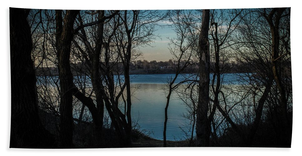 Lake Hand Towel featuring the photograph Lake Mitchell by Benjamin Dunlap