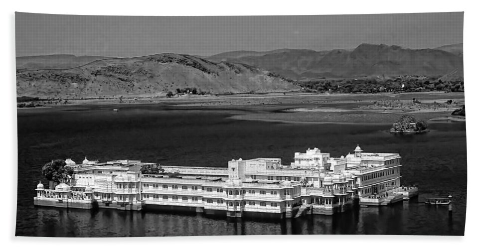 Hotel Hand Towel featuring the photograph Lake Palace Hotel by Steve Harrington