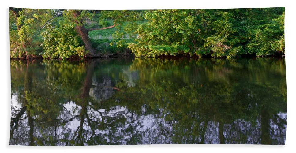 Countryside Bath Sheet featuring the photograph Lake by Svetlana Sewell