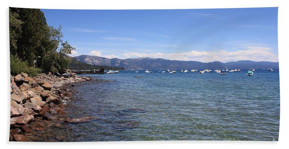 Lake Tahoe Bath Sheet featuring the photograph Lake Tahoe by Carol Groenen