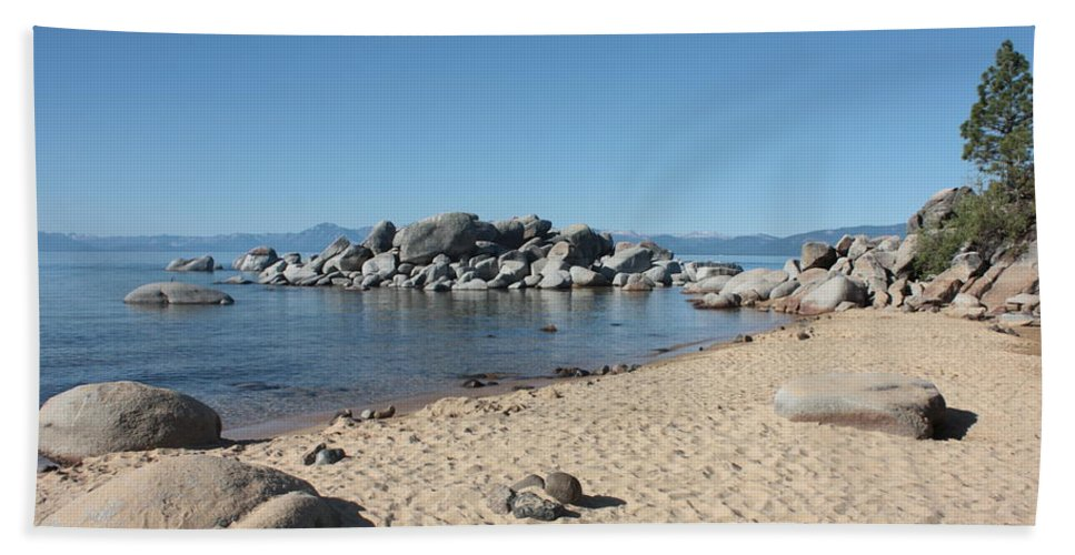 Lake Tahoe Hand Towel featuring the photograph Lake Tahoe Morning by Carol Groenen