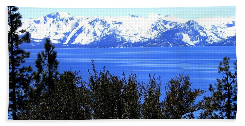 Lake Tahoe Hand Towel featuring the photograph Lake Tahoe by Will Borden
