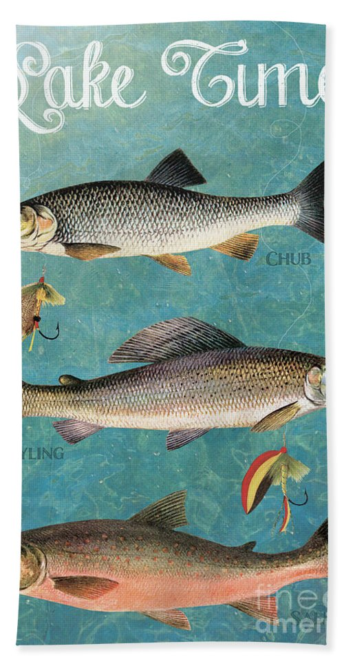 Nautical Bath Sheet featuring the painting Lake Time-jp2785 by Jean Plout