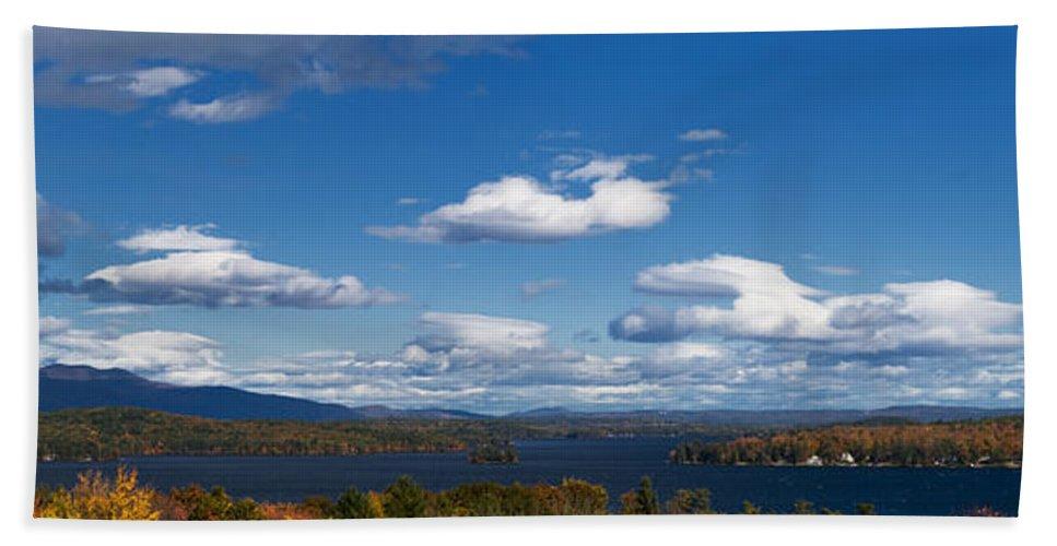 Lake Winnipesaukee Hand Towel featuring the photograph Lake Winnipesaukee New Hampshire In Autumn by Stephanie McDowell