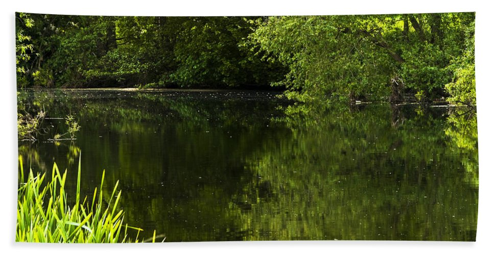Countryside Bath Sheet featuring the photograph Lake01 by Svetlana Sewell