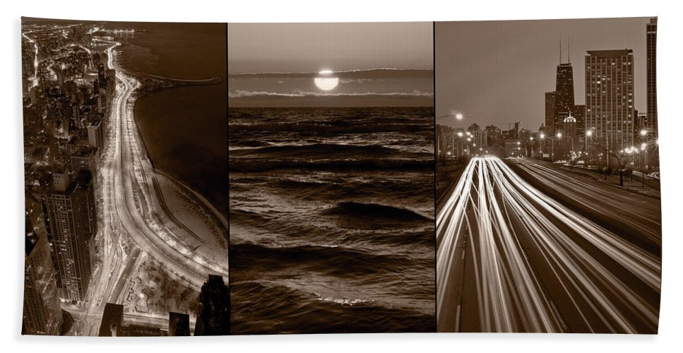 Chicago Bath Sheet featuring the photograph Lakeshore Chicago by Steve Gadomski