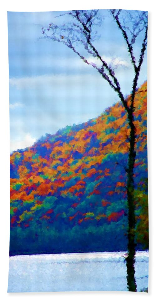 Digital Photograph Hand Towel featuring the photograph Lakeside by David Lane