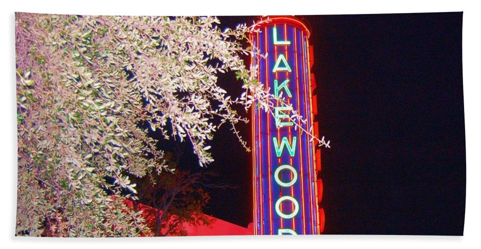 Theater Bath Sheet featuring the photograph Lakewood Theater by Debbi Granruth