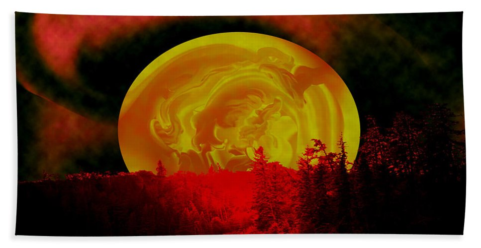 Moon Bath Sheet featuring the photograph Land Of The Living Skies by Andrea Lawrence