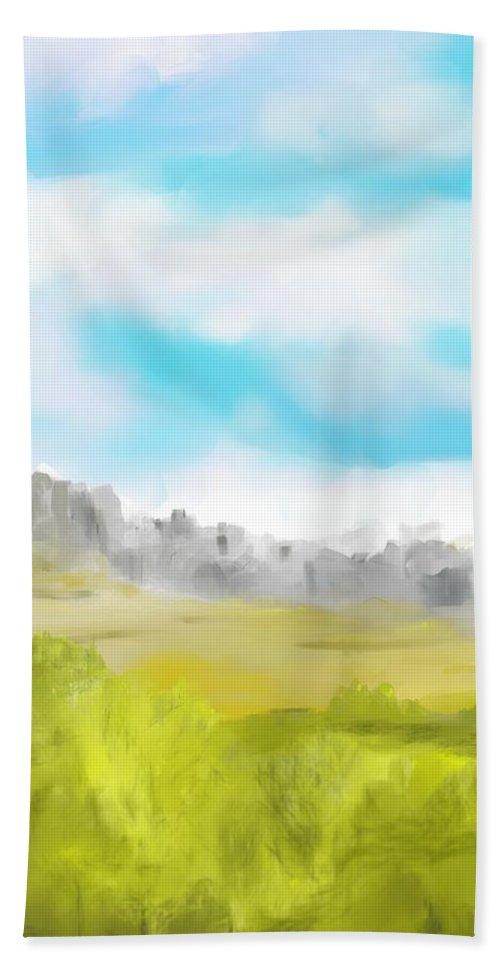 Landscape Hand Towel featuring the digital art Landscape 040710 by David Lane