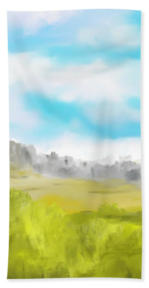 Landscape Bath Sheet featuring the digital art Landscape 040710 by David Lane