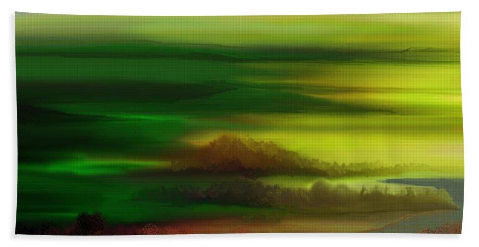 Landscape Bath Sheet featuring the digital art Landscape 081710 by David Lane