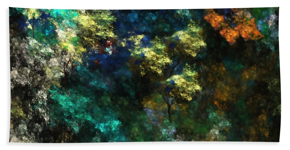Abstract Digital Painting Bath Sheet featuring the digital art Landscape 10-10-09 by David Lane