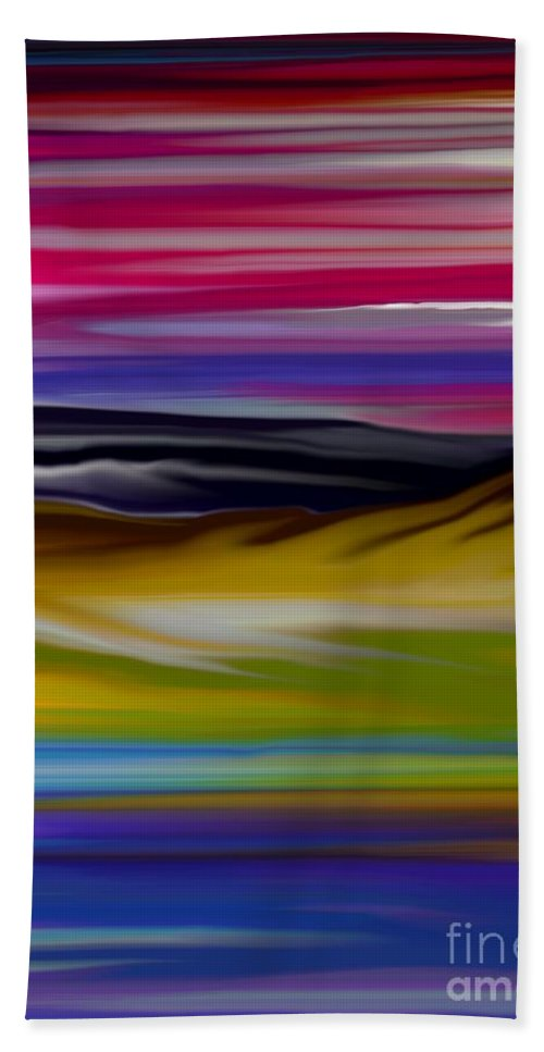 Digital Fantasy Painting Hand Towel featuring the digital art Landscape 7-11-09 by David Lane