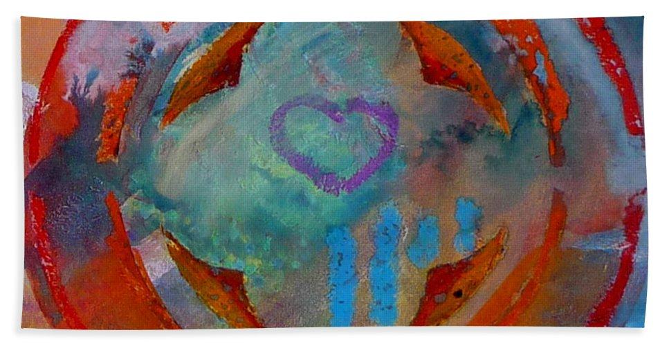 Love Bath Towel featuring the painting Landscape Seascape by Charles Stuart